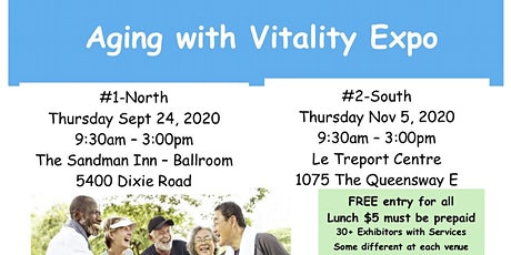 Carp Mississauga's Seniors' Health Expo - Aging with Vitality tickets