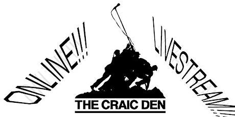 Craic Den Comedy FREE LIVESTREAM + Quiz + Games tickets