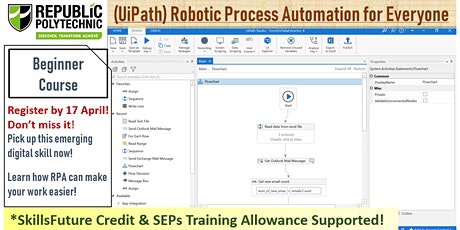 [SkillsFuture Series] (UiPath) Robotic Process Automation for Everyone tickets