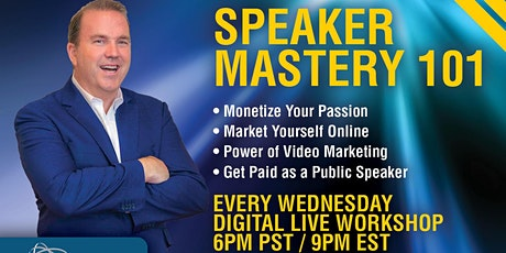 Speaker Mastery 101 Digital Workshop tickets