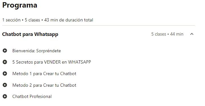 Imagen de Curso Basico - ChatBot para vender en WhatsApp