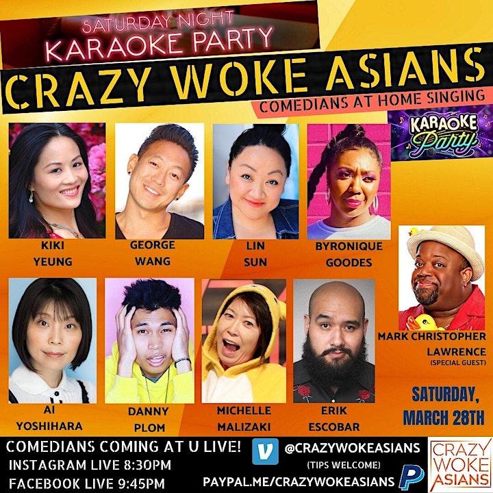 CRAZY WOKE ASIANS PRESENTS COMEDIANS AT HOME SINGING KARAOKE! image