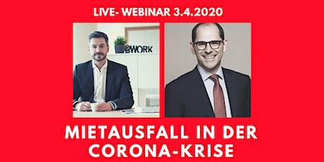 LIVE WEBINAR: MIETAUSFALL  in der Corona-Krise Tickets