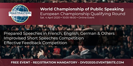 World Championship of Public Speaking - Qualifying Round for European Level tickets