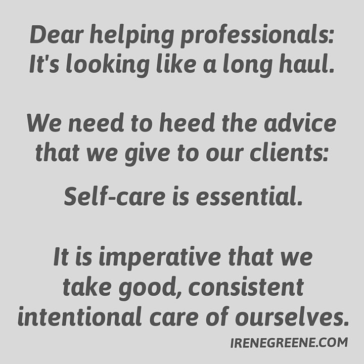 Self-Care Resiliency COVID19: Helping Professionals' Online Wellness Groups image