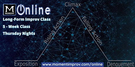 Moment Online: Long-Form Improv Class (8:00 PM) tickets