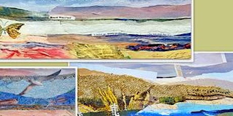 Fabric Paper Collage and  Print- a mixed media collage workshop tickets