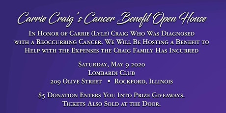 Carrie Craig's Cancer Benefit / Open House tickets