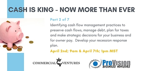 Cash is King - Now More Than Ever tickets