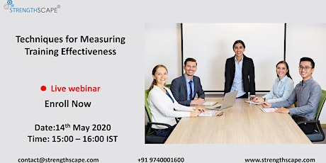 [Free Webinar] Techniques for Measuring Training Effectiveness tickets