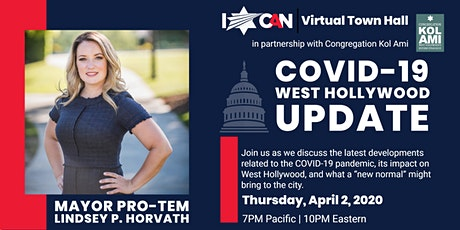 Virtual Town Hall: COVID-19 West Hollywood Update with Lindsey P. Horvath tickets