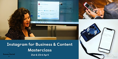 Instagram for  Business & Content Masterclass tickets