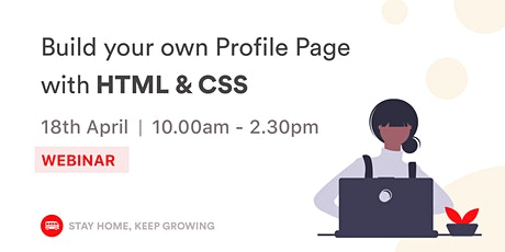 [WEBINAR] Build Your Own Profile Page workshop ⚡ tickets