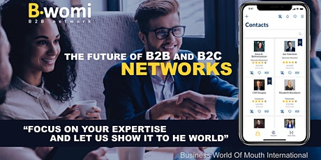 Bwomi B2B and B2C Network (App gratuita para referencias comerciales) entradas