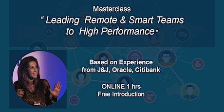 Leading  Remote & Smart Teams  to  High Performance - Manchester tickets