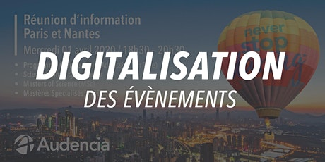 Réunion d'informations Paris -  Audencia billets