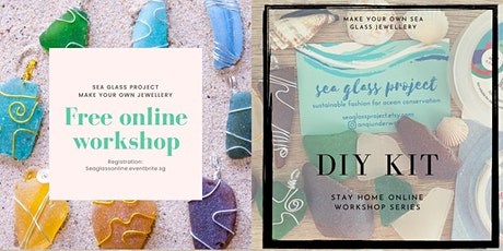 Sea Glass Project jewellery making online workshop  tickets