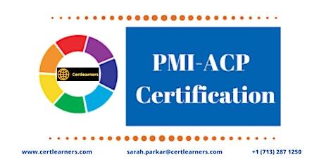 PMI-ACP 3 Days Certification Training in Jonesboro, AR,USA tickets