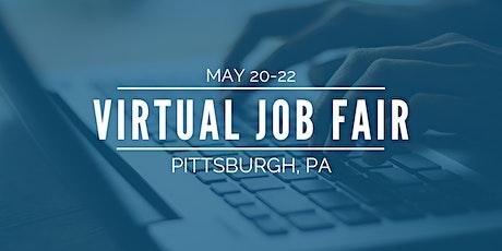 [Virtual] Pittsburgh Job Fair - May 20-22 tickets