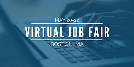 [Virtual] Boston Job Fair - May 20-22 tickets