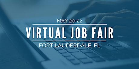 [Virtual] Fort Lauderdale Job Fair - May 20-22 tickets