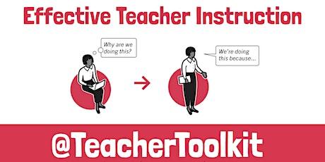 Webinar: 17 Principles of Effective Teacher Instruction tickets