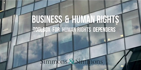 WEBINAR - Business and Human Rights: Toolbox for Human Rights Defenders tickets