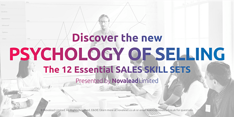Discover, the New Psychology of Selling - Leeds Based Sales Training Course tickets