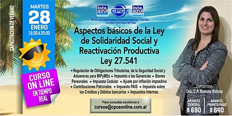 Aspectos Básicos de la Ley de Solidaridad Social y Reactivación Productiva - LEY 27.541 - G entradas