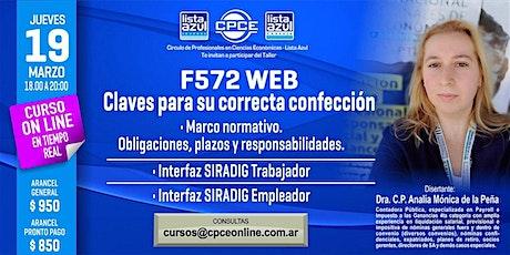 F572 WEB – Claves para su correcta confección - G entradas