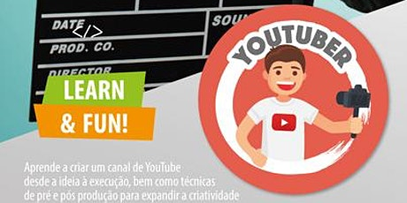 Aula Online Grátis - Curso Youtuber bilhetes