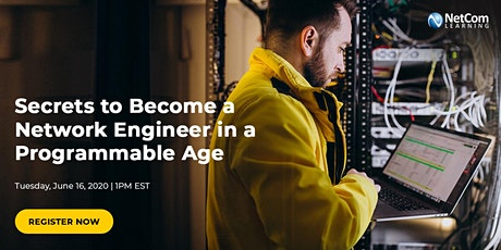 Webinar - Secrets to Become a Network Engineer in a Programmable Age tickets