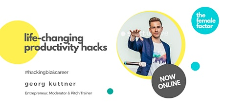 online female factor masterclass | life-changing productivity hacks tickets