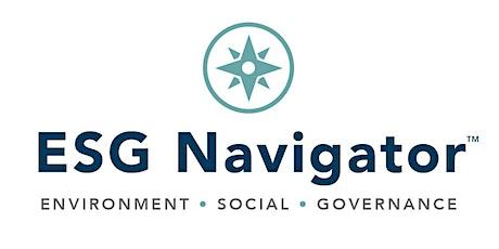 ESG Navigator: April 23, 2020 Webinar tickets