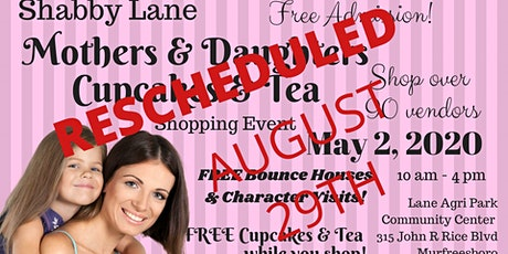 Shabby Lane's Mothers & Daughters Cupcakes and Tea tickets