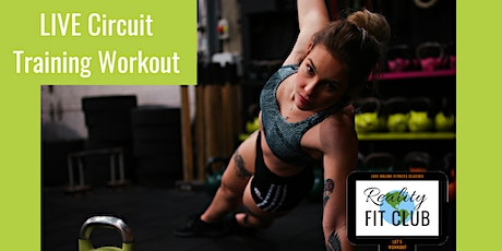 Thursdays 3pm PST LIVE Total Body Circuit: Circuit Training @ Home Workout tickets