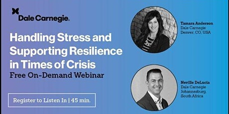 Handling Stress and Supporting Resilience in Times of Crisis Free OnDemand tickets
