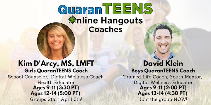 QuaranTEENS Online Hangouts: Socialize & Exercise! (Ages 8-14) image