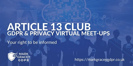 Article 13 GDPR Club tickets