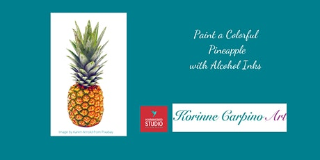 Paint a Colorful Pineapple with Alcohol Ink tickets