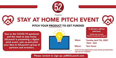 Stay at Home and Pitch Your Product Idea! tickets
