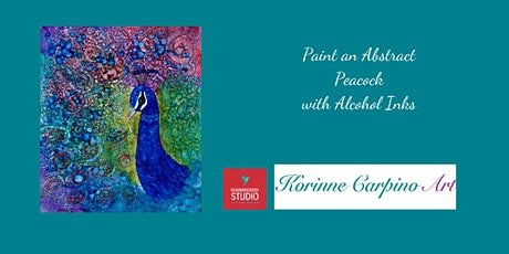 Learn to Paint an Abstract Peacock  with vibrant, jewel toned inks on yupo tickets