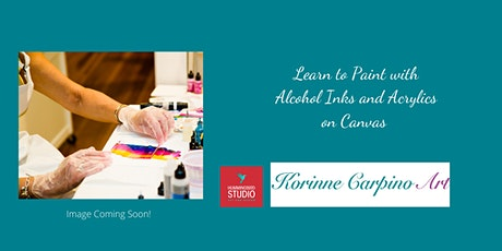 Learn to Paint with Alcohol Inks and Acrylic Paint on Canvas tickets