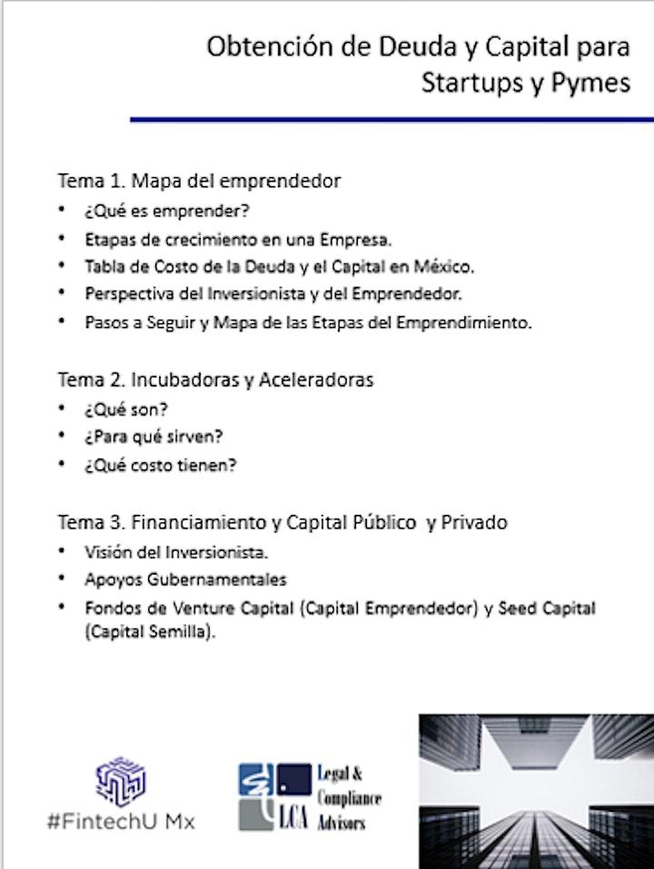 Imagen de Curso Online Obtención de Deuda y Capital para Startups y Pymes