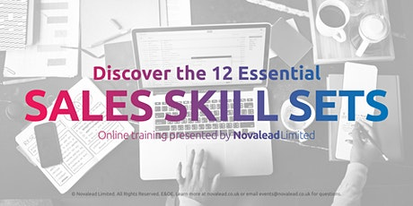 12 Essential Skills for Successful Selling - Zoom Online Training Course tickets