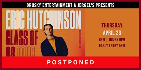 POSTPONED - Eric Hutchinson - Class of 98 Tour tickets