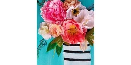 """SPECIAL MOTHER'S DAY EVENT! 5/9 - Corks and Canvas Event @ Vino at the Landing, Renton Mimosa Morning """"Faux Flowers on Canvas"""" tickets"""