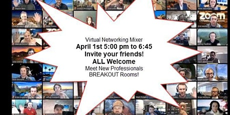 Virtual Networking Happy Hour! Grab a drink/snacks Join us! tickets