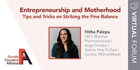 FFA Forum:  Entrepreneurship & Motherhood bilhetes