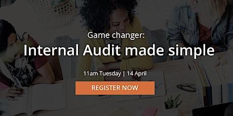 Free webinar: Internal Audit made simple tickets